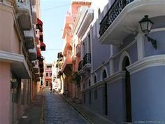 Old San Juan, Puerto Rico.  I couldn't get over just how narrow the streets were!