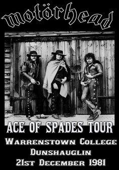 Tour Posters, Band Posters, Pop Rock, Rock And Roll, Hard Rock, Heavy Metal, Metallica, Motorhead Ace Of Spades, Pink Floyd Dark Side