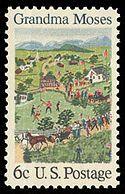 1969 U.S. postage stamp honoring Grandma Moses