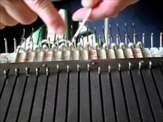 weaving in yarn tails automatically on knitting machines.wmv