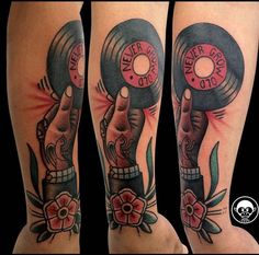 record tattoo