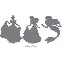 Cross stitch pattern Disney princesses BIGGER by LeRayonDeSoleil