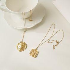 [럽은] 18k 골드 김나영 목걸이 실버925 레이어드 Charms, Gold Necklace, Pendants, Jewels, Silver, Necklaces, Accessories, Gold Pendant Necklace, Jewelery