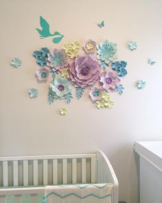 678 отметок «Нравится», 7 комментариев —  paper flower BACKDROPS  (@sydneypaperflowers) в Instagram: «Do you remember our latest baby shower candybar backdrop?  Look what we created for the…»