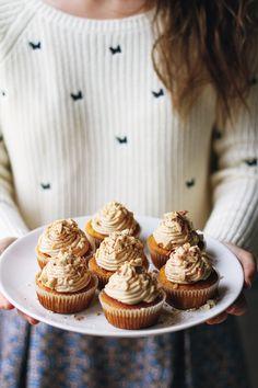 Pumpkin peanut butter cupcakes  babeczki dynia masło orzechowe