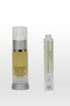 REFRESHING ANTI-PUFF EYE GEL This anti-aging treatment reduces puffiness, eye bags, fine lines and wrinkles.