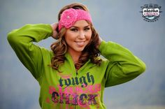 "Green ""Tough Alaska Chick"" Zip Up Hoodie from Alaska Chicks Company on sale for 29.99!"