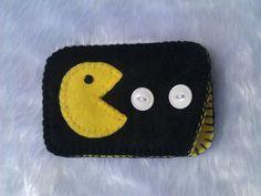 Black felt phone/camera/gadget case by DarkKittyCrafts on Etsy, £10.00