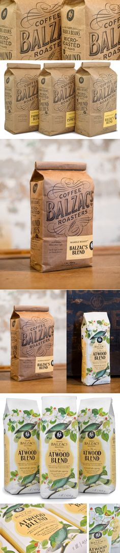 Balzac's Coffee Roasters — The Dieline | Packaging & Branding Design & Innovation News