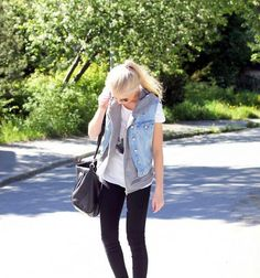 Shop this look on Kaleidoscope (vest, sweatshirt, jeans)  http://kalei.do/WYdmI2APVIHeTT0p