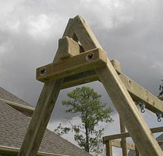 Build your own DIY solid all wood swingset A-frame