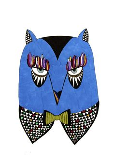 Owls by Berenice La Ruche, via Behance