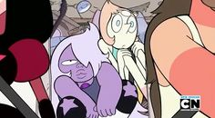 """Pearl And Amethyst are both like """"wut"""" and """"eh I'm bored."""""""
