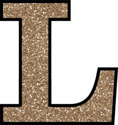 Glitter Without The Glue! Free Digital Printable Alphabet to Download: Glitter Letter L