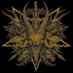 666 Baphomet, Arte Horror, Horror Art, Dark Art Illustrations, Illustration Art, Cupid Drawing, Gothic Drawings, Satanic Art, Evil Art