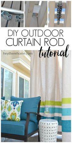 How To Make An Outdoor Curtain Rod That Will Never Rust And Is