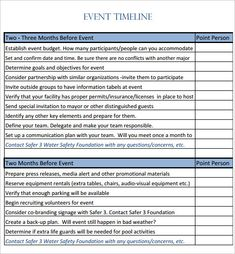 Event Timeline Template   For Word Excel Ppt Pdf Format