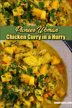 Chicken Curry In A Hurry Recipe, Chicken Curry Stew, Chicken Breast Curry, Pioneer Woman Soups, Pioneer Woman Chicken, Pioneer Woman Recipes, Clean Eating Dinner, Clean Eating Recipes, Cod Recipe Lemon