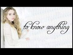 Too Young: I like this song even if it's not published this year. But it is so nice and I like u to hear it if u didn't! Sabrina Carpenter Songs, Aaron Carpenter, Girl Quotes, Song Quotes, Song Lyrics, Qoutes, Like This Song, Rowan Blanchard, Disney Music