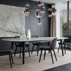 Mesa de comedor / ovalada / de interior / moderna MAD Poliform