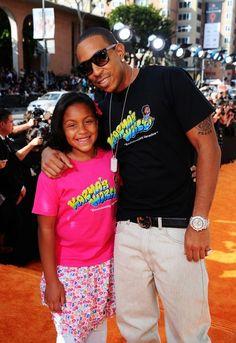 Ludacris with his daughter Karma