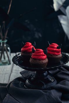 Cro'K'Mou - Blog culinaire - Food & Photography: Halloween Devil cupcakes {Coca cola et chocolat}