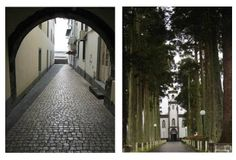 A 1ª é uma ruela em Ponta Delgada e a outra e da Igreja das Sete Cidades em São Miguel!