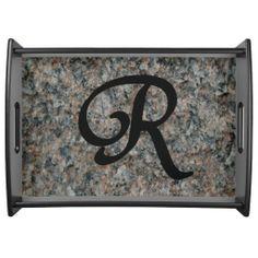 Monogram R Serving Tray