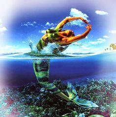 Deusa das águas, também conhecida como Uiara, ela é vista como uma linda sereia que vive nas profundezas do rio Amazonas, de pele parda, cabelos verdes longos e olhos castanhos.