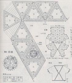 boléro aux triangles granny..
