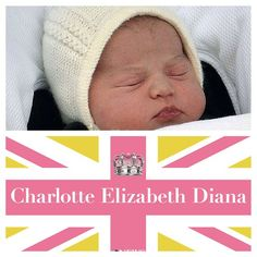A great welcome to the little princess! Princess Charlotte Elizabeth Diana is 4th in line to the British throne and the first female to be born into the monarchy in 25 years.