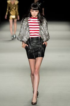 Saint Laurent Spring 2014 // Learn how to hand render stripes: http://www.universityoffashion.com/lessons/rendering-stripe/