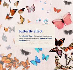 Blue Butterfly Discover idk how to tell how many republished but im pretty sure its gone viral Pretty Words, Beautiful Words, Cool Words, Butterfly Effect, Blue Butterfly, Butterfly Theory, Cute Quotes, Words Quotes, Qoutes