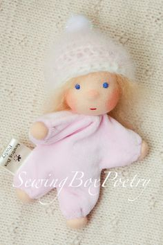 Waldorf doll Tiny Baby Girl - SewingBoxPoetry