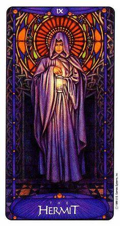 The Hermit - Art Nouveau Tarot