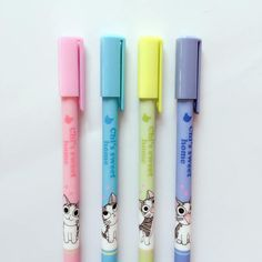 Items similar to 4 Pc Set ~ Kawaii Cute Cat Erasable Gel Pens ~ Kawaii Pens f6fe628b6b61