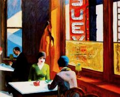 Edward Hopper – Chop Suey – 1929 – The Barney A. Ebsworth Collection (Private)