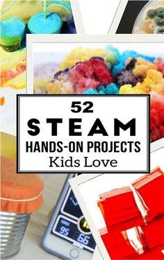 Hands on STEAM activities for kids (science tech engineer art math)