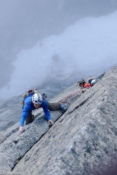"""Ikaros"", IV/V, 7c, 350 m, FFA Thomas Meling 9.6.2013, Blåmannen north face, Norway"