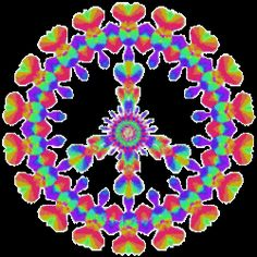 Peace Designs Rainbow Patterned Peace Designs: Peace signs with animated, colorful, flowing, spinning, psychedelic rainbow designs. Art Hippie, Hippie Love, Peace Sign Art, Peace Signs, Optical Illusion Gif, Optical Illusions, Peace Love Happiness, Peace And Love, Animated Heart Gif