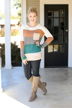 Around the Band Sweater - Teal   Hazel & Olive
