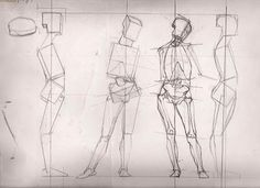 classical figure drawing and the contemporary realism of hedwardbrooks: Boxing in the Basic Volumes of the Figure,  Basic ...
