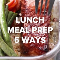 Lunch Meal Prep 5 Ways | https://lomejordelaweb.es/ Pinterest ^^ | https://pinterest.com/Ilovecocinar/