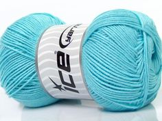 Fiber Content 50% Bamboo 50% Cotton Light Turquoise Brand Ice Yarns fnt2-44109 Baby Bamboo, Bamboo Light, Light Turquoise, Cotton Lights, Amazon Art, Sewing Stores, Sewing Crafts, Throw Pillows, Yarns