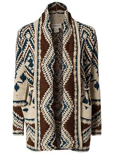 Denim & Supply, Ralph Lauren | love the colours and pattern on shawl collar