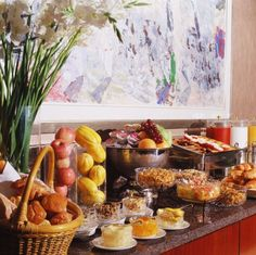 Hotel Breakfast buffet - memories of childhood when my Dad would take the whole family out every Sunday after Mass