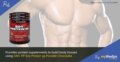 Provides protein supplements to build body tissues using GNC PP Soy Protein 95 Powder Chocolate. #WeightGain #SoyProtein