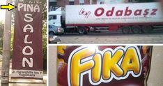 Ezek a külföldi cégnevek a mi nyelvünkön teljesen más jelentéssel bírnak, és pont ettől olyan viccesek... :) Haha, Comedy, Jokes, Funny, Pictures, Husky Jokes, Ha Ha, Memes, Funny Parenting