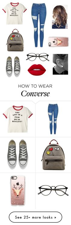 """Untitled #229"" by niniber002 on Polyvore featuring Topshop, Converse, MANGO, Lime Crime and Casetify"