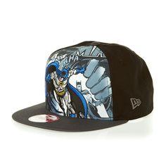ee586952a581c New Era Mens 9Fifty A-Frame Hero Break Out DC Batman Cap - Black Graphite
